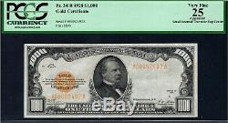 $1000 1928 GOLD CERTIFICATE Fr 2408 Woods-Mellon PCGS 25 Note Ch. Very Fine