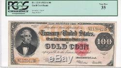 $100.00 Gold Certificate, 1922, FR1215, Speelman-White, PCGS Very Fine 35