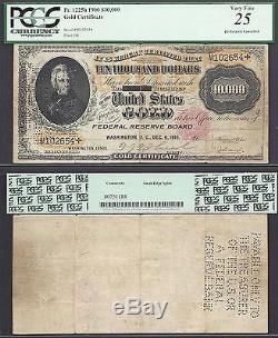 $10,000 1900 GOLD CERT=Fr. 1225h=TEN THOUSAND==PCGS VERY FINE 25