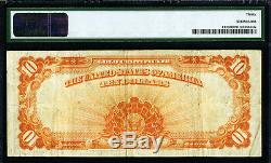 $10 1922 Gold Certificate Pmg Very Fine 30 Large S/n Fr# 1173 Nice MID Grade