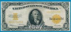 $10. Fr. 1173 1922 Gold Seal Gold Certificate Very Fine
