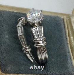 14k White Gold Diamond Bridal-Wedding Set E Color SI1 with EGL Certificate