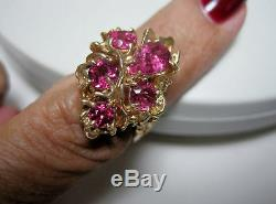 14kt Gold Red Tourmaline Rubellite Ring Certificate A++