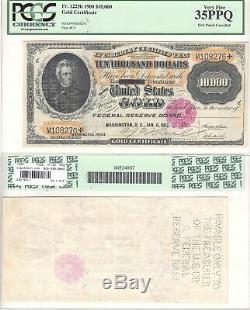 1900 $10,000 Gold Certificate Fr 1225h PCGS Very Fine-35