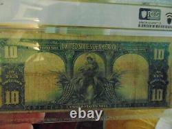 1901 Us Note Bison 10.00 Pcgs Fine 12