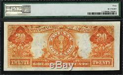 1906 $20 Gold Certificate FR-1181 Graded PMG 40 Extremely Fine