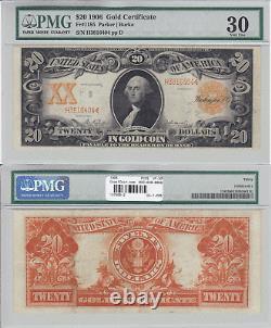 1906 $20 Gold Certificate Fr 1185 PCGS Very Fine-30