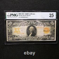 1906 $20 Gold Certificate, Fr # 1185, PMG 25 Very Fine (Parker-Burke)