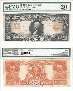 1906 $20 Gold Certificate Fr 1185 PMG Very Fine-20