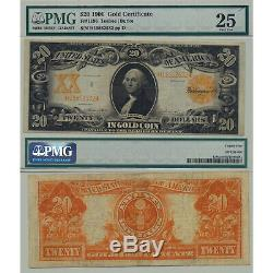1906 $20 Gold Certificate Fr#1186 PMG Certified Very Fine 25 Teehee l Burke