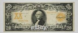 1906 $20 Gold Certificate Note Currency Circulated Very Fine Fr. 1185766