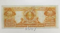 1906 $20 Gold Certificate S/N H2185978, Fr. 1185 Circulated Very Fine