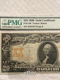1906 20 gold certificate PMG 25 Very Fine PRICED RIGHT
