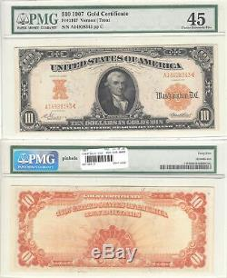 1907 $10 Gold Certificate Fr 1167 PMG Choice Extremely Fine-45