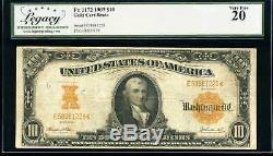 1907 $10 Gold Certificate Fr. 1172 Very Fine #E58981228