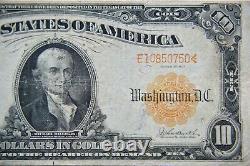 1907 $10 Gold Certificate Large Note Burke/Parker -Very Fine- 057E
