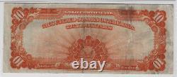 1907 $10 Gold Certificate Note Currency Fr. 1172 Teehee / Burke PMG Very Fine 25