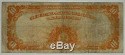 1907 $10 Gold Certificate Note Currency Large Size Problem Free Choice Fine 063