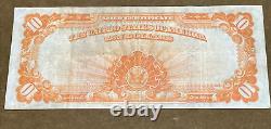 1907 $10 Ten Dollar Gold Seal Certificate Note FR. 1172 Extra Fine XF