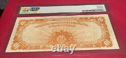 1907 $10 US GOLD Certificate LARGE SIZE- PMG 25 Very Fine Certified Beauty