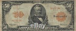 1913 $50 Fifty Dollar Gold Certificate Fr-1199 PMG 15 Choice Fine