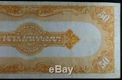 1913 $50 Gold Certificate Fr # 1199 Very Fine PMG 30