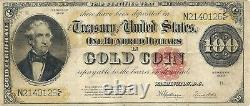 1922 $100 Gold Certificate Thomas Hart Benton Fr 1215 Nice Extremely Fine