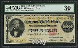 1922 $100 One Hundred Dollar Gold Certificate Fr-1215 PMG 30 Very Fine