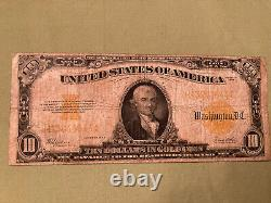 1922 $10 Dollars In Gold Coin Very Fine