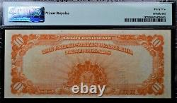 1922 $10 GOLD CERTIFICATE Fr#1173 LARGE SN PMG CHOICE VERY FINE 35 MINOR REPAIRS