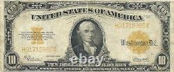 1922 $10 GOLD CERTIFICATE LARGE SIZE CURRENCY THE ROARING'20's VERY FINE