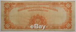 1922 $10 Gold Certificate Fr-1173 Fine+