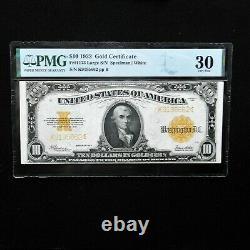 1922 $10 Gold Certificate, Fr # 1173 Large S/N PMG 30 Very Fine (Speelman-White)