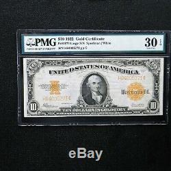 1922 $10 Gold Certificate, Fr # 1173, PMG 30 EPQ Very Fine (Speelman-White)
