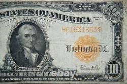 1922 $10 Gold Certificate Large Note Scarce -Very Fine- Speelman/White 138H