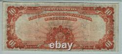 1922 $10 Gold Certificate Note Large S/n Fr. 1173 Pmg Choice Very Fine Vf 35 Epq