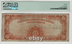 1922 $10 Gold Certificate Note Large S/n Fr. 1173 Pmg Very Fine Vf 20 (890)
