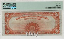 1922 $10 Gold Certificate Note Large S/n Fr. 1173 Pmg Very Fine Vf 25 (496)