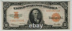 1922 $10 Gold Certificate Note Large S/n Fr. 1173 Pmg Very Fine Vf 30 (854)