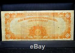 1922 $10 Gold Certificate Vf Very Fine United States 259 L@@k Now Trusted