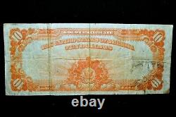 1922 $10 Gold Certificate Vf Very Fine Yellow Seal X L@@k Now 432 Trusted
