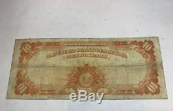 1922 $10 Gold. Certificate, fr-1173a, speelman White signatures, Fine