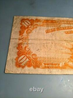 1922 $10 Gold Coin Gold Large Note Gold Certificate Very Fine