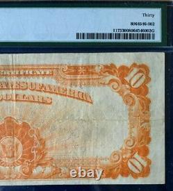 1922 $10 Large Gold Certificate Pmg 30 Very Fine Large S/n, Speelman/white 3667