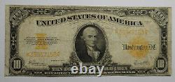 1922 $10 Large Size Gold Certificate Choice Fine, some crispness