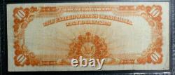 1922 $10 Ten Dollar Gold Certificate Pcgs 15 Choice Fine Large Serial Numbers