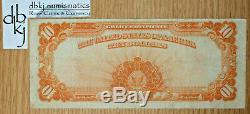 1922 $10 Ten Dollars Gold Certificate Currency Note Fr 1173 Very Fine Plus