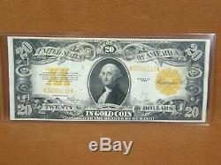 1922 $20.00 Gold Coin Certificate FR 1187 Spellman/White Very Fine Ungraded