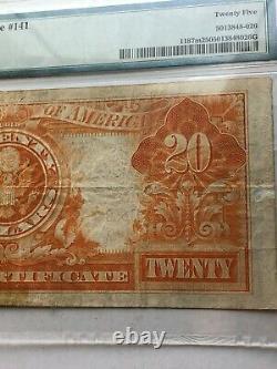 1922 20 Dollar GOLD CERTIFICATE (MULE!) Very Fine 25