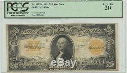 1922 $20 Gold Cert FR#1187 PCGS 20 Very Fine Star Note